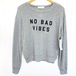 Spiritual Gangster Grey NO BAD VIBES Sweatshirt
